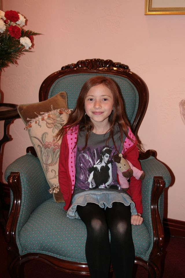 Emma -- our youngest usher!