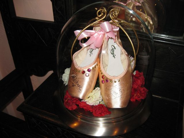 Autographed pointe shoes