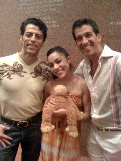 Monsieur Perdu with our dancers ~ Richard Amaro, Jeanette Delgado & choreographer, Ramon del Barrio