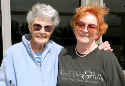 Aunt Cleo (left) is pictured with Wanda Clark, Lucy's secretary for 28 years.