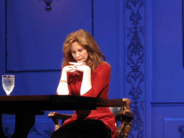 Mary at rehearsal