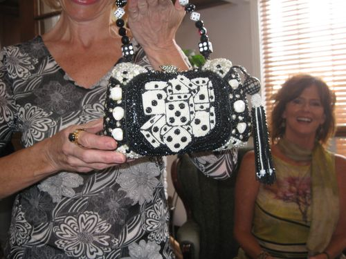 A Las Vegas themed purse