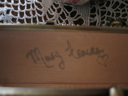 Mary's autograph