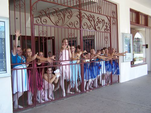 Dancers begging to be released from rehearsal!